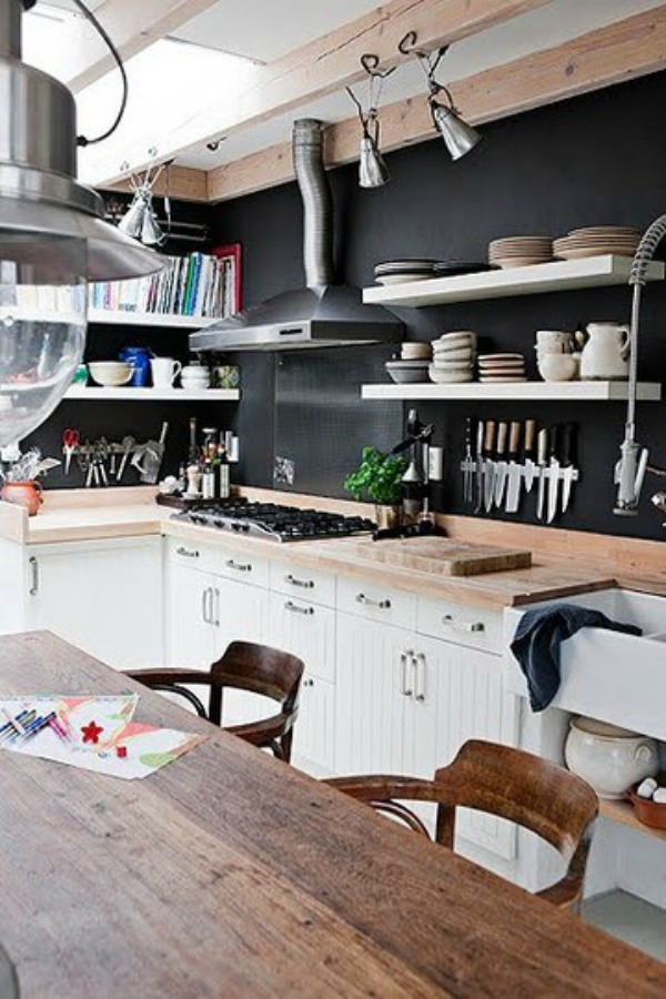 Black Kitchen Walls charming black walls | violets and cardamom