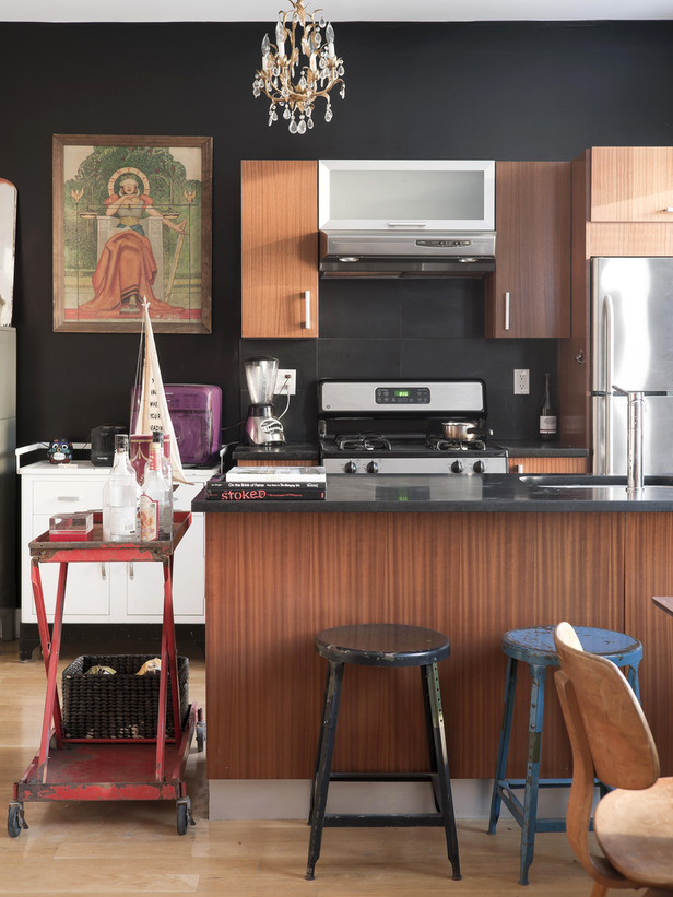 Black Kitchen Walls delighful black kitchen walls give this house easy access to the